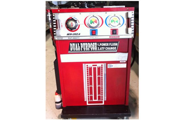 transmission flushing machine