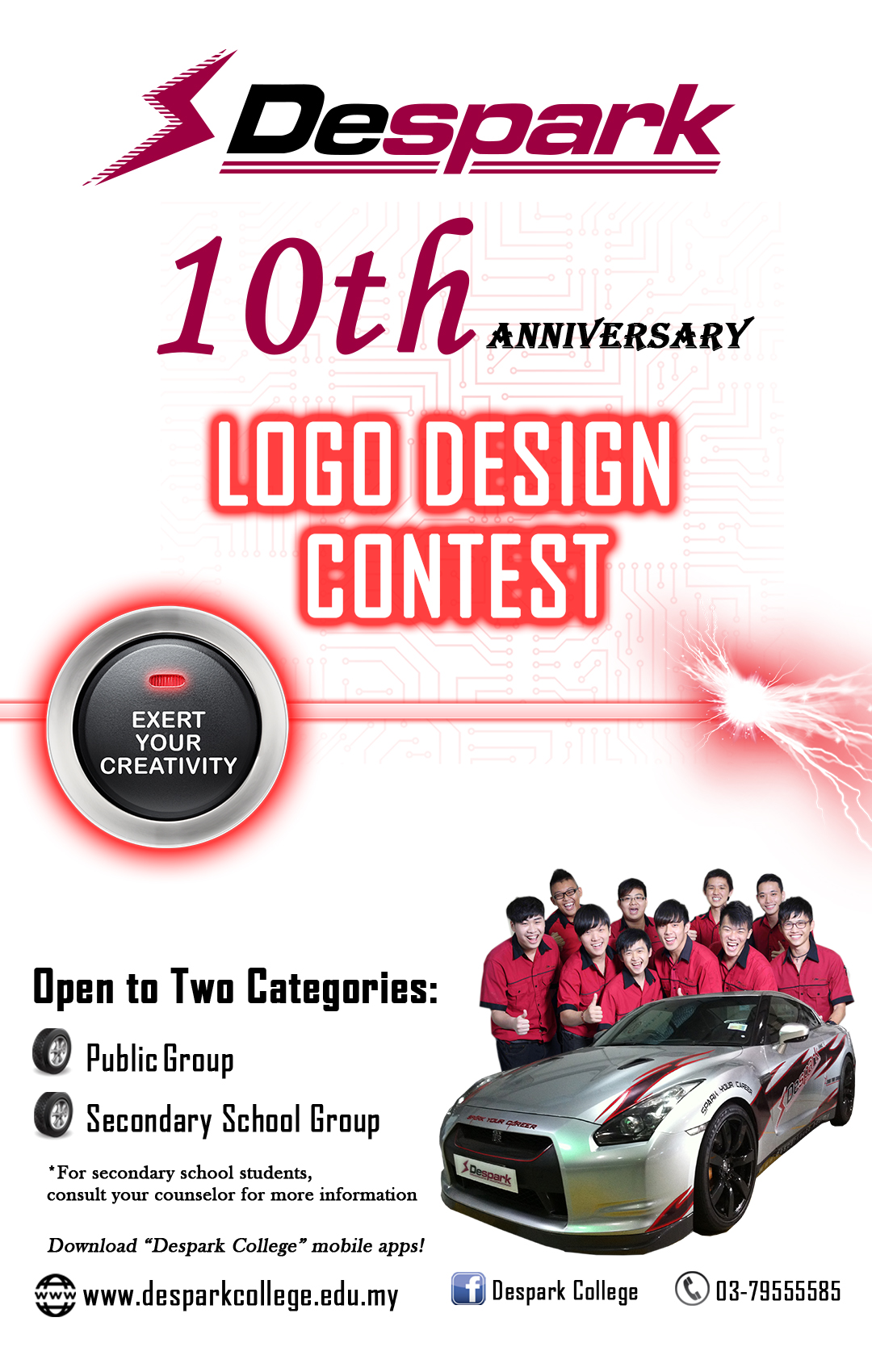 10th anniversary logo design competition despark college Logo design competitions