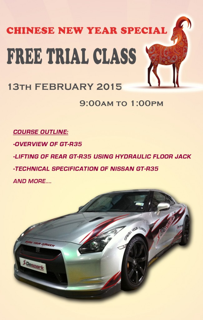 free trial class 13 feb